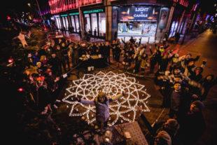 Mandala of 1,000 Lights Raises Money For Homeless People